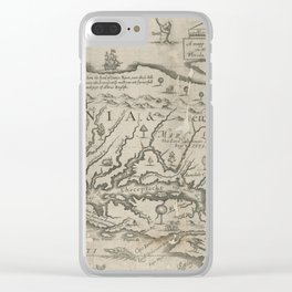 Vintage Map of Virginia (1651) Clear iPhone Case