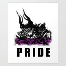 Asexual Pride Demon Art Print