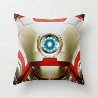 iron man Throw Pillows featuring IRON MAN Iron Man by Veylow