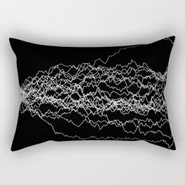 25 paths of discrete Brownian motion - black and white Rectangular Pillow