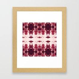 Kumo Ikat Ruby Framed Art Print