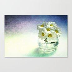 White Poetry Canvas Print
