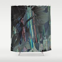 moth Shower Curtains featuring Moth by RDKL, Inc.