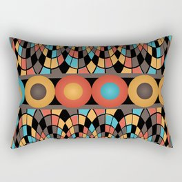Colorful geometric composition Rectangular Pillow