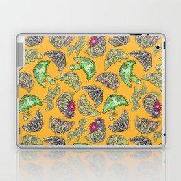 """Oro?"" Cactus with Flower Mustard Laptop & iPad Skin"