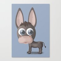 donkey Canvas Prints featuring DONKEY by Ainaragm