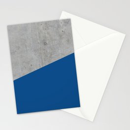 Concrete and Lapis Blue Color Stationery Cards