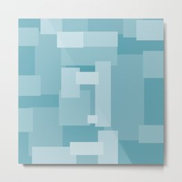 Matted Shades of Blue - Color Therapy Metal Print
