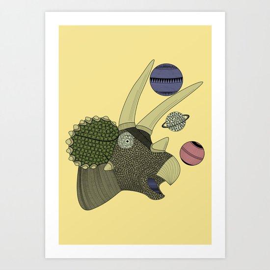 Playful Dinosaur Art Print