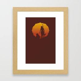 Jakku Sunset : The Force Awakens Framed Art Print
