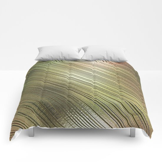 Golden Stripes Comforters