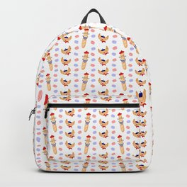 Madame Croissant and Monsieur Baguette Backpack