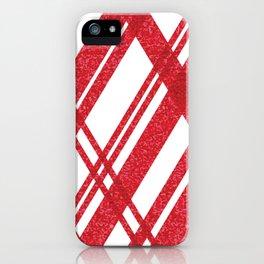 Red Stripe iPhone Case