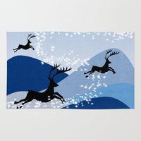 card Area & Throw Rugs featuring Christmas card  by mark ashkenazi