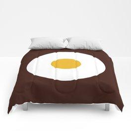 Fried egg Comforters