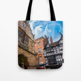 Chester Buildings And Sky Tote Bag
