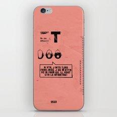 3T3H3E iPhone & iPod Skin
