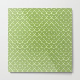 Escamas greenery Metal Print