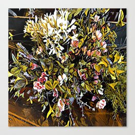 Yellow and Pink Bouquet of Flowes Canvas Print