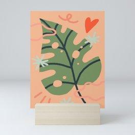 Love leaves Mini Art Print