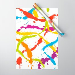 Splattered Rainbow [WHITE] Wrapping Paper