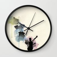 niall horan Wall Clocks featuring Niall Horan by bellavigg