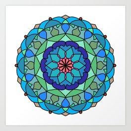 Beautiful decorative mandala Art Print