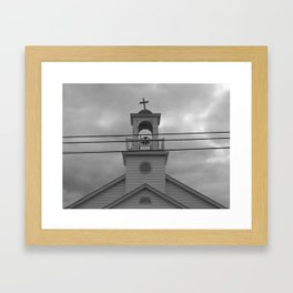 Crooked Cross on a Church, Out of Town Framed Art Print