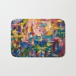 Abstract - Colorful World by Lena Owens Bath Mat