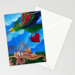 Flight of the wounded heart Stationery Cards