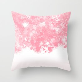 paint splatter on gradient pattern bbpw Throw Pillow