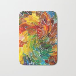 Upright Stained Twist Bath Mat