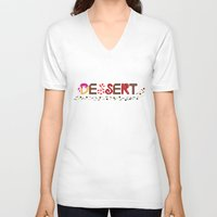 dessert V-neck T-shirts featuring Dessert by olive yuvencia
