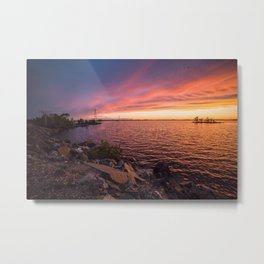 Rainy Lake Metal Print