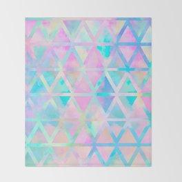 Pink pastel aztec pattern Throw Blanket