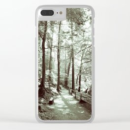 In the forest Clear iPhone Case