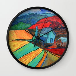 Hay Barns Wall Clock
