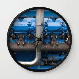 Blue Tractor Motor Wall Clock
