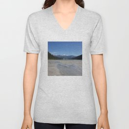 Looking out over Lake Louise Unisex V-Neck