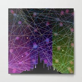 A Futurist's Starry Night Metal Print