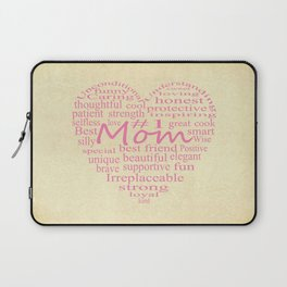 Defintion Of A Mother-Heart Outline Laptop Sleeve
