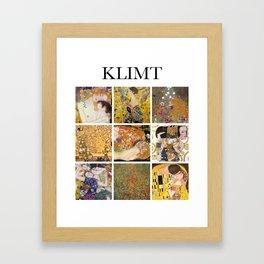 Klimt - Collage Framed Art Print
