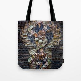 Mosaic Stone Figurine Tote Bag