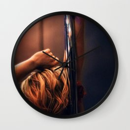 Pole Dance Seduction Wall Clock