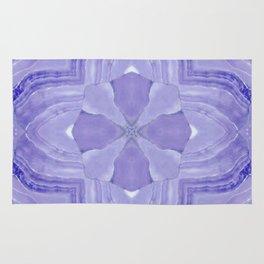 Jade Agate Stone Flower Violet Rug