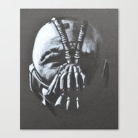 bane Canvas Prints featuring BANE by LadyGabe