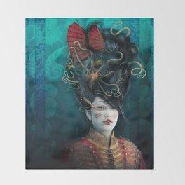 Queen of the Wild Frontier Throw Blanket