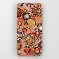 brown iPhone & iPod Skins featuring brown by Kras Arts - Fly Me To The Moon