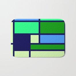 Mondrianista green blue Bath Mat