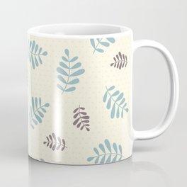 Falling Leaves – Blue & Brown Coffee Mug